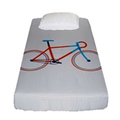 Bicycle Sports Drawing Minimalism Fitted Sheet (single Size) by Simbadda