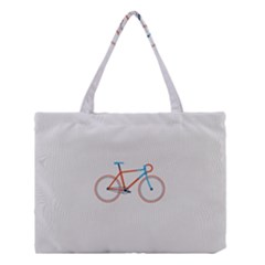 Bicycle Sports Drawing Minimalism Medium Tote Bag by Simbadda
