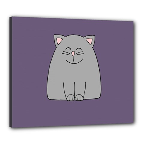 Cat Minimalism Art Vector Canvas 24  X 20  by Simbadda