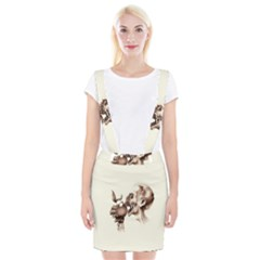 Zombie Apple Bite Minimalism Suspender Skirt by Simbadda
