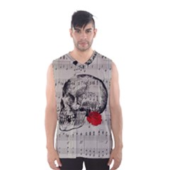 Skull And Rose  Men s Basketball Tank Top by Valentinaart
