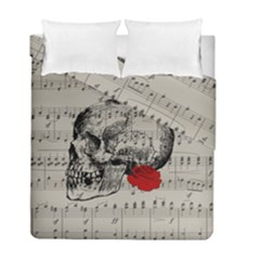 Skull And Rose  Duvet Cover Double Side (full/ Double Size) by Valentinaart