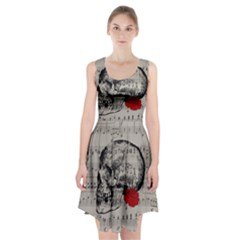 Skull And Rose  Racerback Midi Dress by Valentinaart