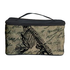 Dinosaur Skeleton Cosmetic Storage Case by Valentinaart