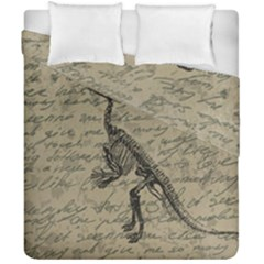 Dinosaur Skeleton Duvet Cover Double Side (california King Size) by Valentinaart