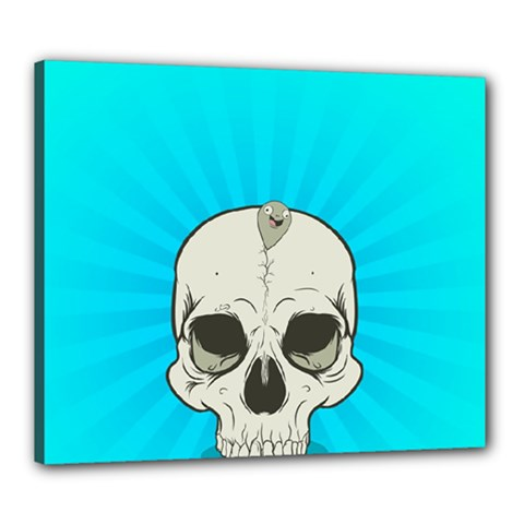 Skull Ball Line Schedule Canvas 24  X 20
