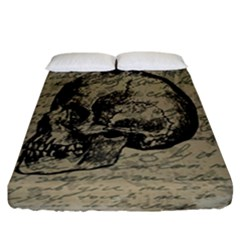 Skull Fitted Sheet (california King Size) by Valentinaart