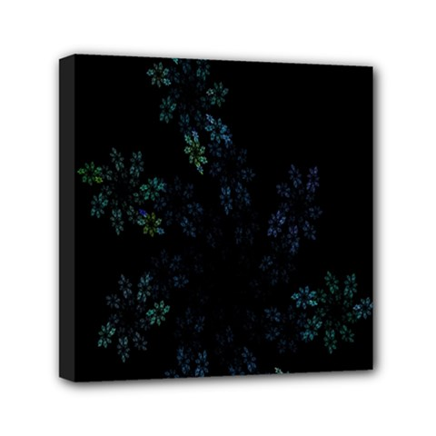 Fractal Pattern Black Background Mini Canvas 6  X 6  by Simbadda