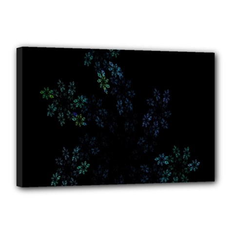 Fractal Pattern Black Background Canvas 18  X 12  by Simbadda