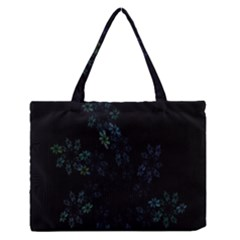 Fractal Pattern Black Background Medium Zipper Tote Bag