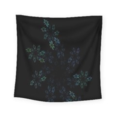 Fractal Pattern Black Background Square Tapestry (small)
