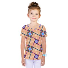 Overlaid Patterns Kids  One Piece Tee