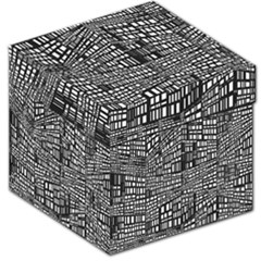 Recursive Subdivision Between 5 Source Lines Screen Black Storage Stool 12