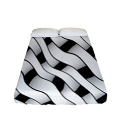 Black And White Pattern Fitted Sheet (full/ Double Size) by Simbadda
