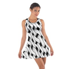 Black And White Pattern Cotton Racerback Dress