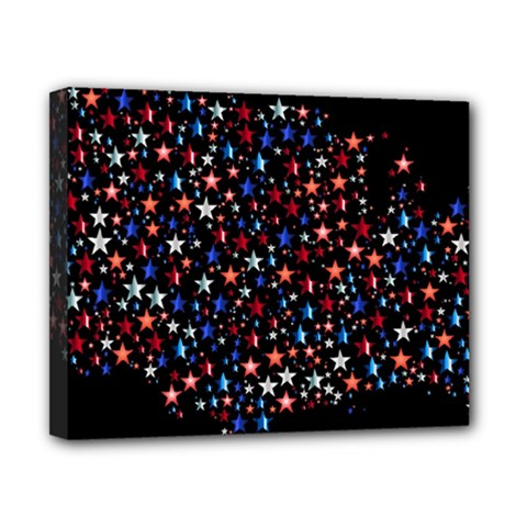 America Usa Map Stars Vector  Canvas 10  X 8  by Simbadda