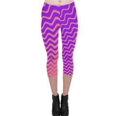 Pink And Purple Capri Leggings  by Simbadda