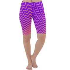 Pink And Purple Cropped Leggings  by Simbadda