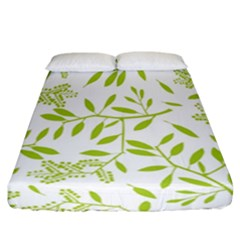 Leaves Pattern Seamless Fitted Sheet (california King Size) by Simbadda