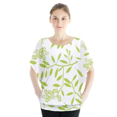 Leaves Pattern Seamless Blouse