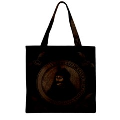 Count Vlad Dracula Zipper Grocery Tote Bag by Valentinaart