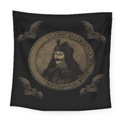 Count Vlad Dracula Square Tapestry (large) by Valentinaart