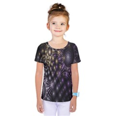 Fractal Patterns Dark Circles Kids  One Piece Tee