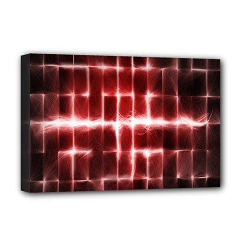 Electric Lines Pattern Deluxe Canvas 18  X 12   by Simbadda