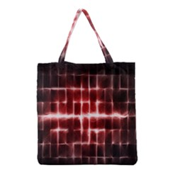Electric Lines Pattern Grocery Tote Bag by Simbadda