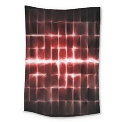 Electric Lines Pattern Large Tapestry