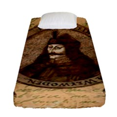 Count Vlad Dracula Fitted Sheet (single Size) by Valentinaart