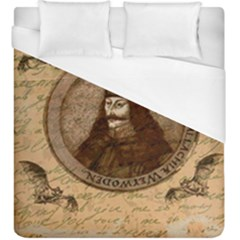 Count Vlad Dracula Duvet Cover (king Size) by Valentinaart