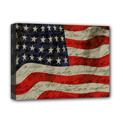 Vintage American Flag Deluxe Canvas 16  X 12   by Valentinaart