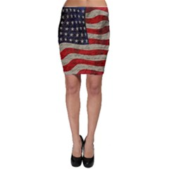 Vintage American Flag Bodycon Skirt by Valentinaart