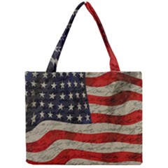 Vintage American Flag Mini Tote Bag by Valentinaart