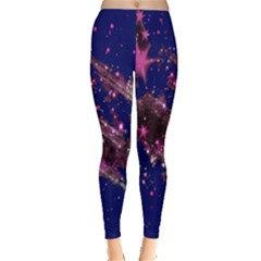 Stars Abstract Shine Spots Lines Leggings  by Simbadda
