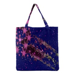 Stars Abstract Shine Spots Lines Grocery Tote Bag