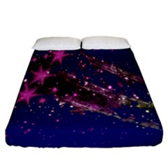 Stars Abstract Shine Spots Lines Fitted Sheet (california King Size) by Simbadda