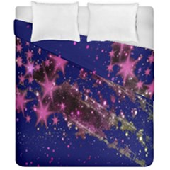 Stars Abstract Shine Spots Lines Duvet Cover Double Side (california King Size) by Simbadda