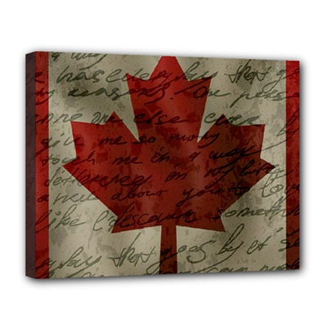 Canada Flag Canvas 14  X 11  by Valentinaart