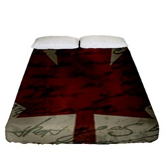 Canada Flag Fitted Sheet (queen Size) by Valentinaart
