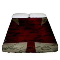 Canada Flag Fitted Sheet (king Size) by Valentinaart