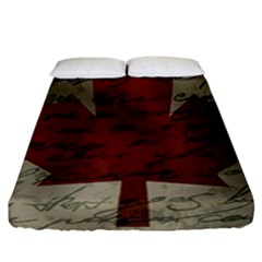 Canada Flag Fitted Sheet (california King Size) by Valentinaart