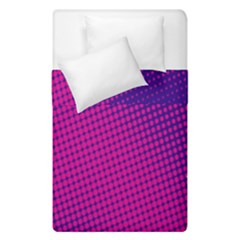 Retro Halftone Pink On Blue Duvet Cover Double Side (single Size) by Simbadda