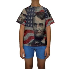 Lincoln Day  Kids  Short Sleeve Swimwear by Valentinaart