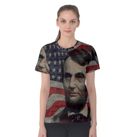Lincoln Day  Women s Cotton Tee by Valentinaart