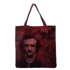 Edgar Allan Poe  Grocery Tote Bag by Valentinaart