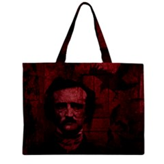 Edgar Allan Poe  Zipper Mini Tote Bag by Valentinaart
