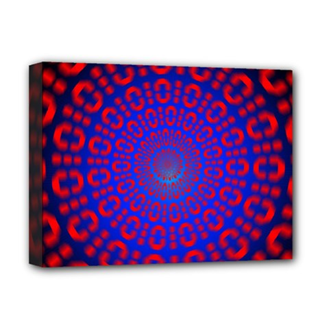 Binary Code Optical Illusion Rotation Deluxe Canvas 16  X 12