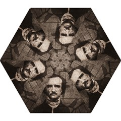 Edgar Allan Poe  Mini Folding Umbrellas by Valentinaart